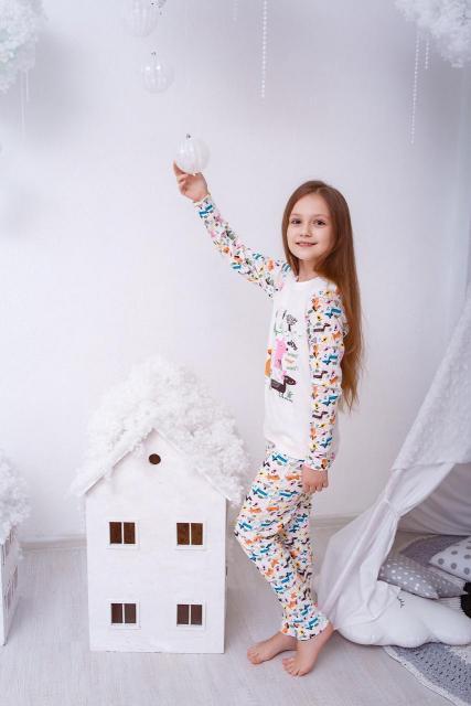 """Пижама трикотажная """"Таксы"""""""