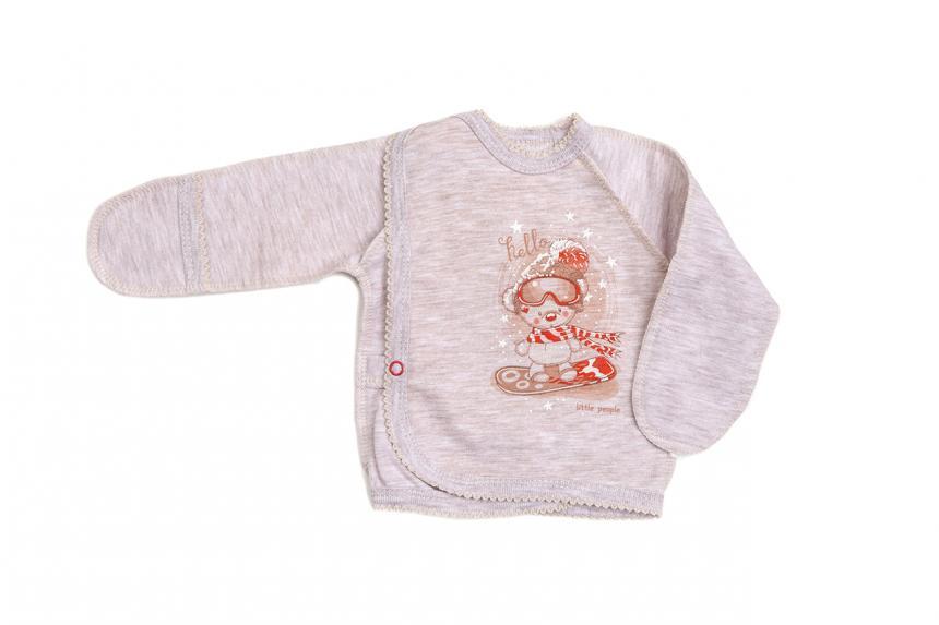 Распашонка для новорождённого  теплая Маленькие люди 1136-121