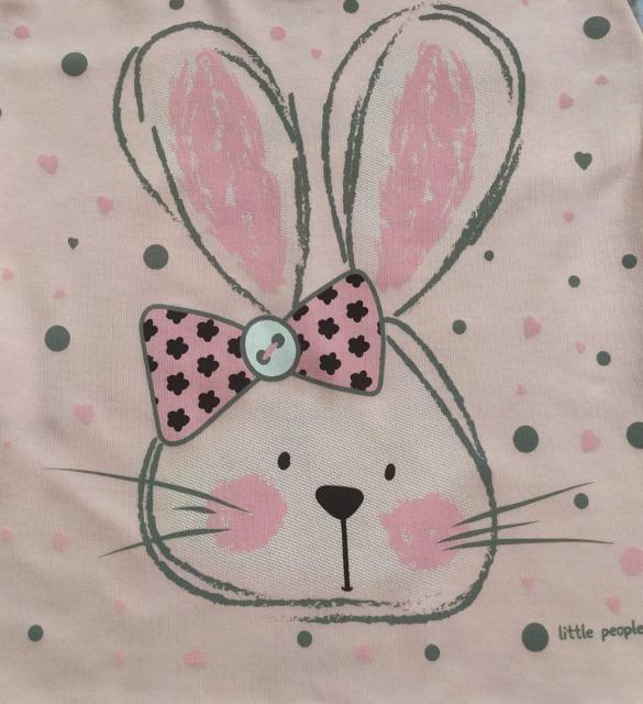 Пижама для девочки c принтом зайки