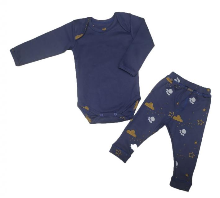 Комплект  для малышей с боди и штанишками