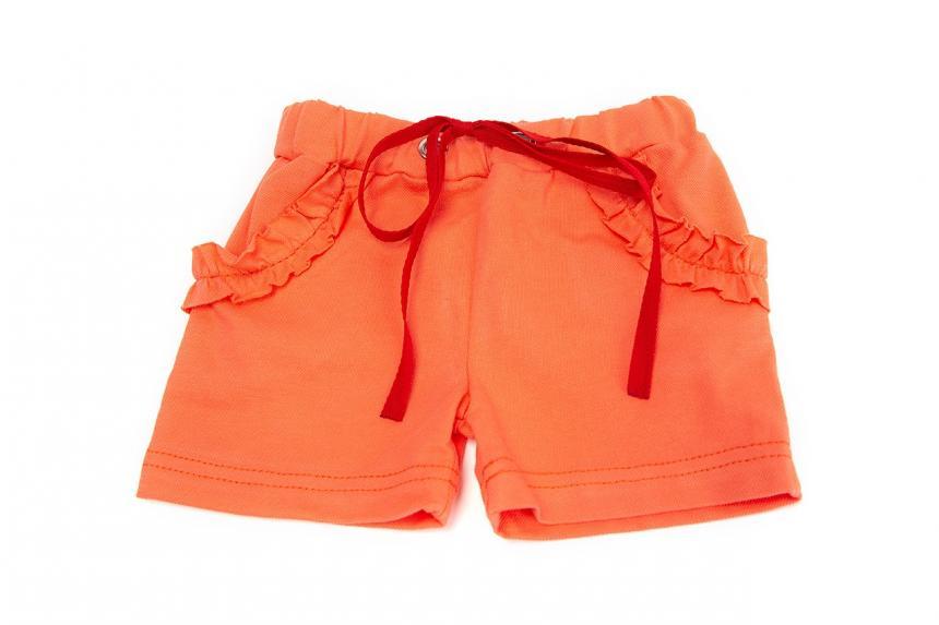 Шорты для девочки оранжевые Маленькие Люди (1110-305)