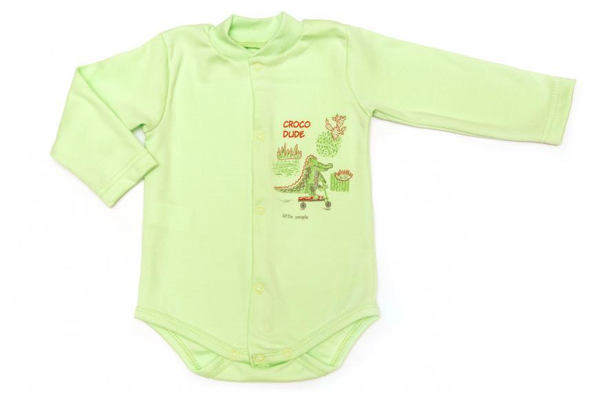 Боди трикотажный для мальчика (девочки) с рисунком Маленькие Люди (434-110)