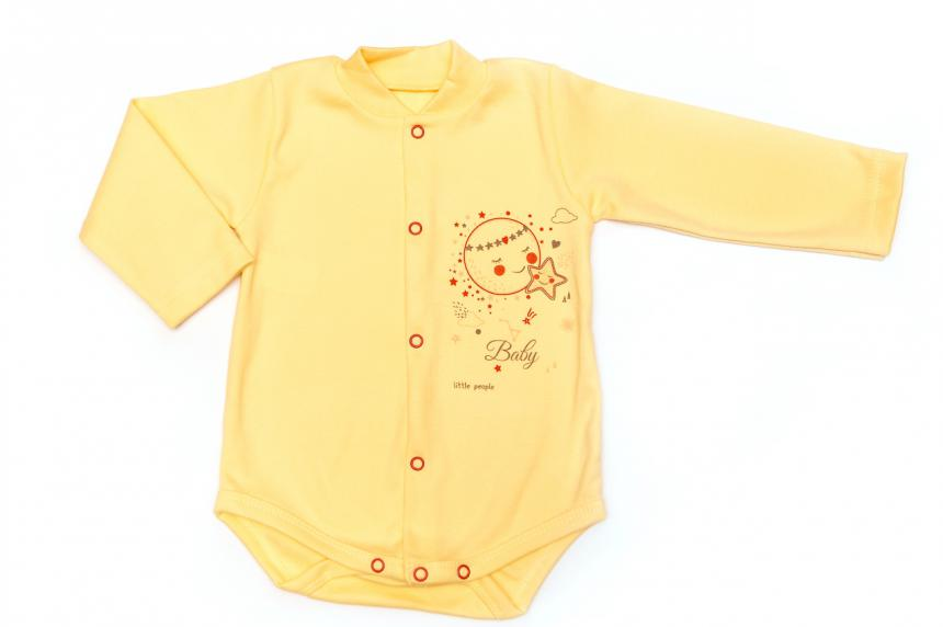 Боди трикотажный для девочки(мальчика) с рисунком Маленькие Люди (434-110)