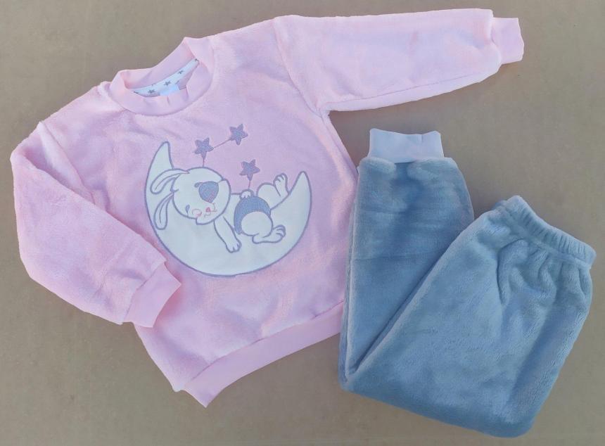 Махровая  домашняя пижама для девочки