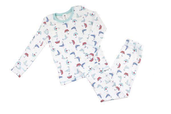 Піжама дитяча кофта та штани комплект для сну ТМ Маленькі люди