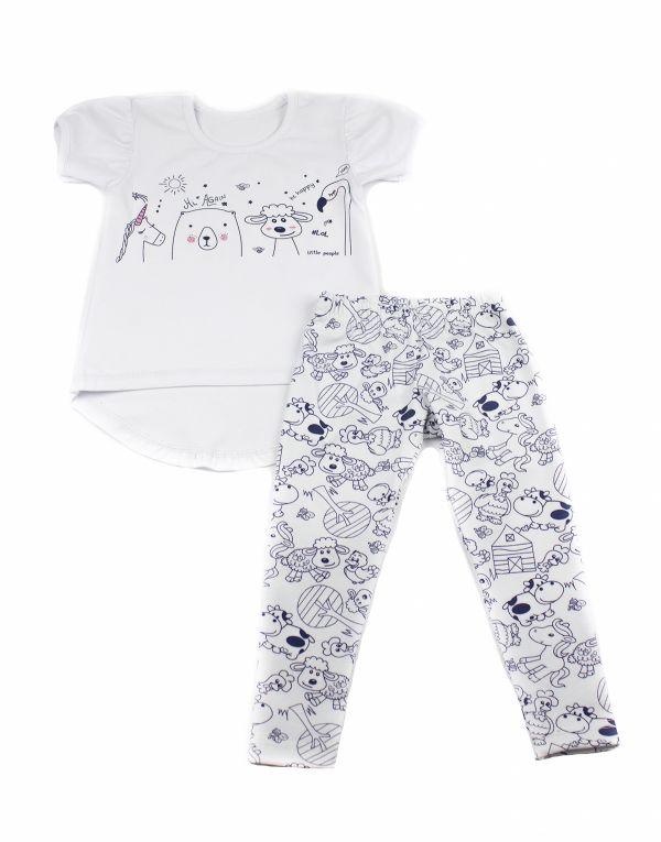 Комплект костюм  дитячий (лосини і футболка) для дівчинки Маленькі люди (1043-333)