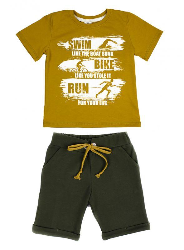 Костюм комплект (футболка і штани) дитячий для хлопчиків Маленькі люди (3022111)