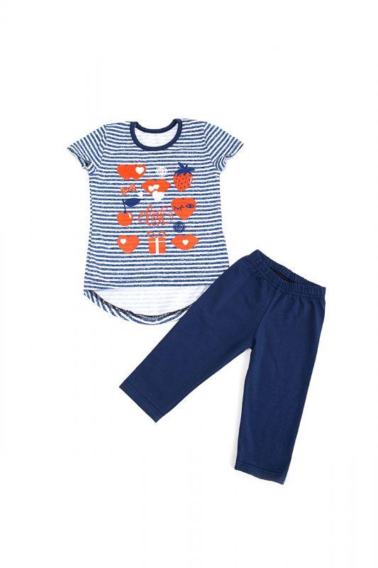 Комплект костюм  дитячий (лосини і футболка) для дівчинки Маленькі люди (1065-333)