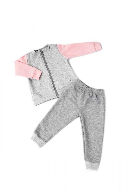 Костюм спортивний дитячий для дівчинки (кофта і штани)  Маленькі люди