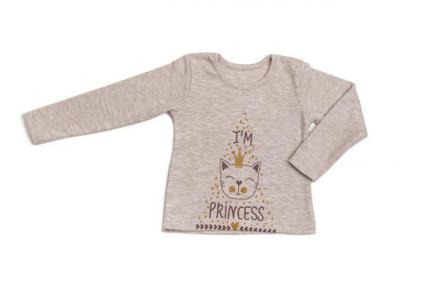 Трикотажний джемпер (кофта) з довгими рукавами дитячий для дівчинки Маленькі люди
