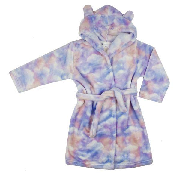 Дитячий халат для дівчинки махровий з вушками ТМ Маленькі люди
