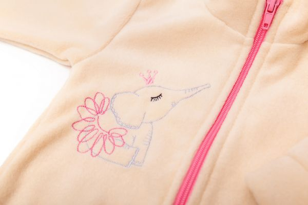 Теплий дитячий спортивний костюм з флісу для дівчаток  ( кофта і штани) Маленькі люди (358-501-1)