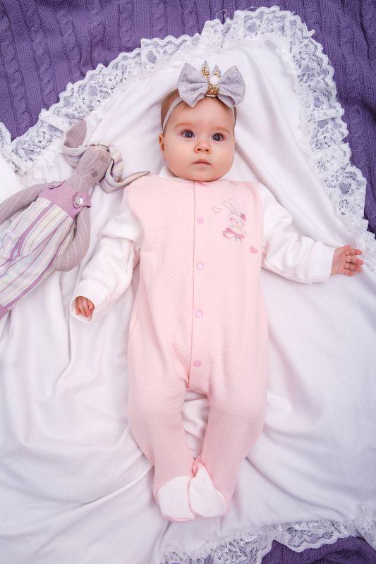 Комбінезон чоловічок для дівчинки новонароджених немовлят утеплений Маленькі люди