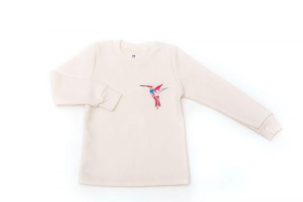 Джемпер (кофта) с длинными рукавами детский для девочек Маленькие люди